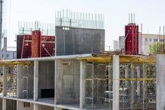 13.10.2021 - Ukraine. Construction of a shopping center. Concrete construction.