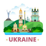 Ukraine country design template Flat cartoon style Stock Photography