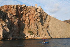 Ukraine. Crimea. Balaklava Harbor. Royalty Free Stock Images