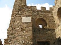 ukraine crimea Genoese fästning i Sudak Arkivfoton