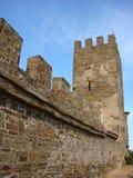 Ukraine Crimea Sudak. Sudak fortress (Genoese fortress) 212 years old royalty free stock image