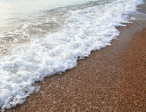 Ukraine. Crimea. Waves on Black sea Stock Photo