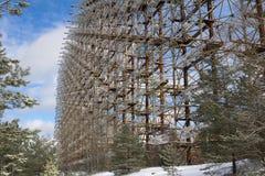 ukraine De uitsluitingsstreek van Tchernobyl - 2016 03 20 Sovjetradarfaciliteit DUGA Stock Fotografie