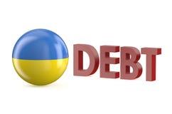 Ukraine debt concept Royalty Free Stock Photos