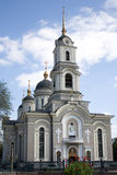 Ukraine - Donetsk Cathedral. Orthodox church that stand in the centre of Donetsk, Ukraine. Donetsk is one four Euro 2012 Final cities Royalty Free Stock Images