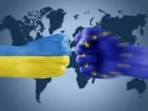 Ukraine x eu Stock Photo