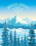 ukraine för dragobratliggandeberg vinter vektor illustrationer