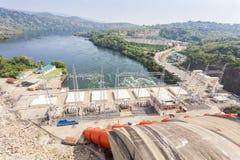 ukraine för station för dnepr vattenkraftflod zaporozhye Arkivbilder