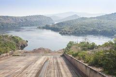 ukraine för station för dnepr vattenkraftflod zaporozhye Arkivfoton