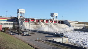 ukraine för station för dnepr vattenkraftflod zaporozhye lager videofilmer