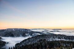 ukraine för sun för strålar för stående för crimea aftonvandring vinter arkivbild
