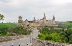 ukraine för town för podilskyi för slottkamianets gammal sikt Sikt från den gamla staden ukraine Royaltyfri Foto