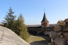 ukraine för town för podilskyi för slottkamianets gammal sikt Royaltyfri Fotografi