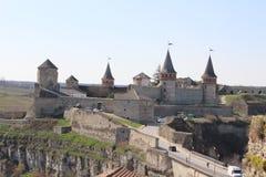 ukraine för town för podilskyi för slottkamianets gammal sikt Arkivbild