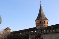 ukraine för town för podilskyi för slottkamianets gammal sikt Arkivbilder