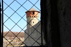 ukraine för town för podilskyi för slottkamianets gammal sikt Royaltyfri Bild