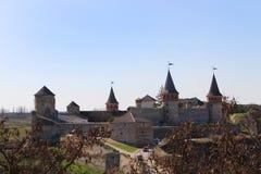 ukraine för town för podilskyi för slottkamianets gammal sikt Royaltyfri Foto