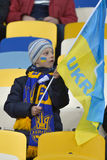Ukraine fan Royalty Free Stock Image