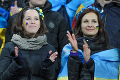 Ukraine fans Stock Photo