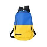 Ukraine flag backpack isolated on white Royalty Free Stock Photography