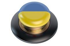 Ukraine flag button Royalty Free Stock Photos