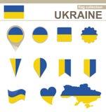 Ukraine Flag Collection. 12 versions royalty free illustration