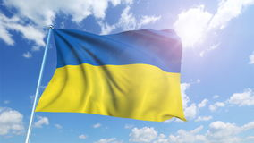 Ukraine flag stock footage