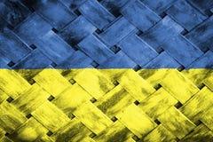 Ukraine flag, flag on the wood Royalty Free Stock Photos