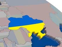 Ukraine with flag Stock Image