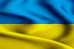 Ukraine flag illustration stock illustration
