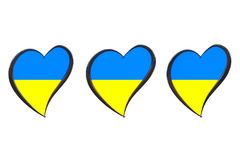 Ukraine Flag Inside Heart. Eurovision Song Contest 2017 in Ukrai Stock Images