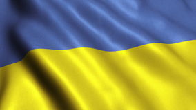 Ukraine  Flag Looping Video - 4K. Ukraine Flag. Seamless Looping Animation. 4K High Definition Video stock video