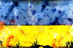 Ukraine flag - political conflict strike concept Royalty Free Stock Image
