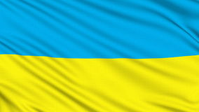 Ukraine flag. Ukraine flag, with real structure of a fabric stock video