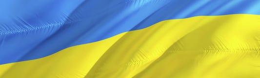 Ukraine flag. Flag of Ukrainian. 3D Waving flag design,3D rendering. The national symbol of Ukrainian background wallpaper. 3D. Ribbon, wallpaper, pattern stock photos