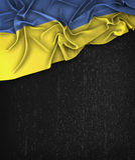 Ukraine Flag Vintage on a Grunge Black Chalkboard Royalty Free Stock Image