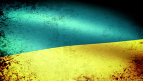 Ukraine Flag Waving, grunge look stock footage