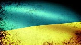Ukraine Flag Waving, grunge look. Ukraine Flag Waving grunge look, video footage stock footage