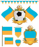 Ukraine flags Stock Image