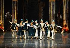 Ukraine flute dance-The prince adult ceremony-ballet Swan Lake Stock Photo