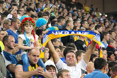 Ukraine football team supporters Royalty Free Stock Photos