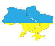 Ukraine in the form of flag Royalty Free Stock Photo