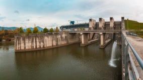 ukraine för station för dnepr vattenkraftflod zaporozhye Royaltyfria Foton