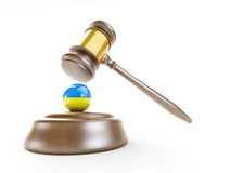 Ukraine gavel Stock Image