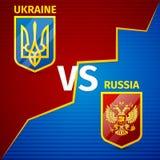 Ukraine GEGEN Russland Stockfoto