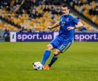 Ukraine gegen Wales Lizenzfreie Stockbilder