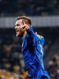 Ukraine gegen Wales Stockfotos