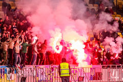 Ukraine gegen Wales Lizenzfreies Stockbild