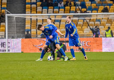 Ukraine gegen Wales Stockbilder