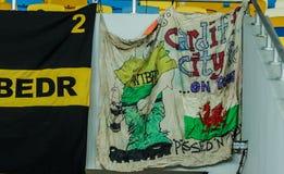 Ukraine gegen Wales Lizenzfreies Stockfoto
